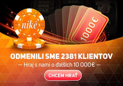 Niké odmenili 2381 hráčov, hraj s o ďalších 10000€