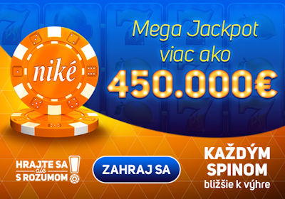Ide o veľa, rozbi MEGAJACKPOT viac než 450000 €